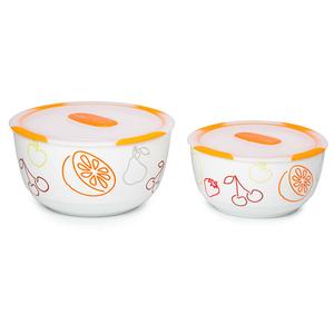Set boluri OURSSON BS4781RC/OR, 2 piese, 1.7 si 3l, ceramica, portocaliu