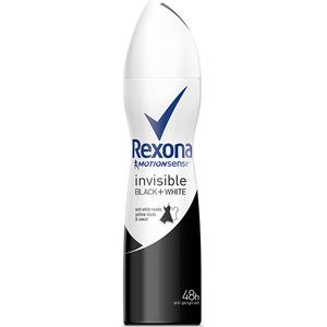 Deodorant spray antiperspirant REXONA Invisible Black + White, pentru femei, 150ml