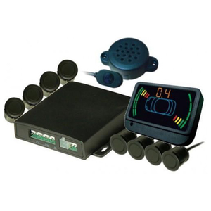 Sistem complet 8 senzori de parcare fata-spate, afisaj led, difuzoare, VIPER DIRECTED 9500 FR
