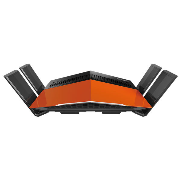 Router Wireless D-LINK DIR-869 EXO AC1750, Dual-Band 450 + 1300 Mbps, Gigabit, WAN, LAN, negru-portocaliu