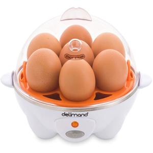 Aparat de gatit la abur si fiert oua DELIMANO 106064600, 7 oua, 370W, alb-portocaliu