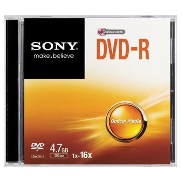 DVD-R SONY DMR47SS, 16x, 4.7GB, 1buc - Slim Case