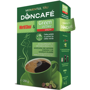 Cafea macinata DONCAFE Green Active World Class 304009, 250gr