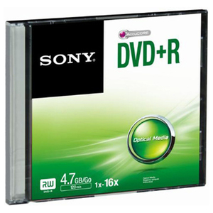 DVD+R SONY DPR47SS, 16x, 4.7GB, 1buc - Slim Case