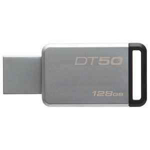 Memorie portabila KINGSTON DataTraveler 50, 128GB, USB 3.1, argintiu