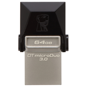 Memorie USB KINGSTON DataTraveler microDuo, USB 3.0-microUSB, 64GB, 70MBs/15MBs, negru