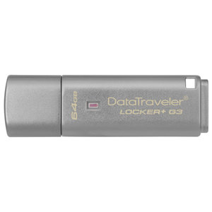 Memorie portabila KINGSTON DataTraveler Locker+ G3 DTLPG3/64GB, 64GB, USB 3.0, argintiu