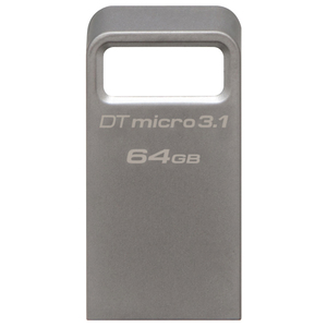 Memorie USB KINGSTON DataTraveler Micro 3.1, 64GB, USB 3.1, argintiu