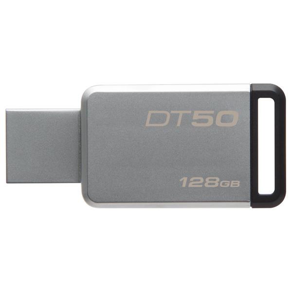 Memorie portabila KINGSTON DataTraveler 50, 128GB, USB 3.1, argintiu
