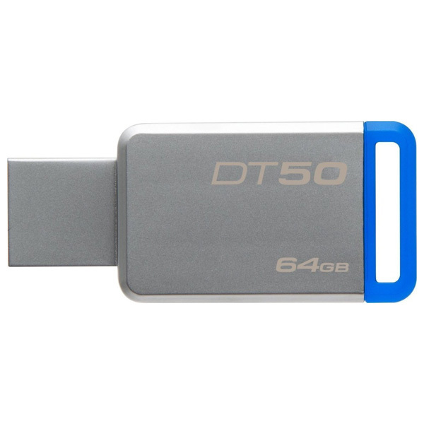 Memorie portabila KINGSTON DataTraveler 50, 64GB, USB 3.1, argintiu