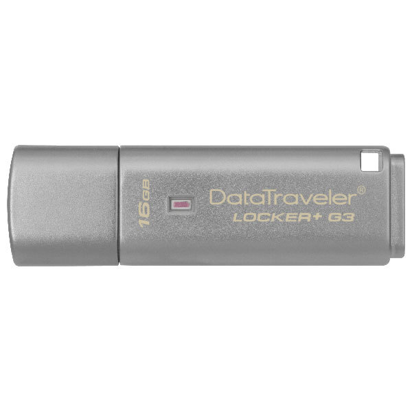 Memorie portabila KINGSTON DataTraveler Locker+ G3 DTLPG3/16GB, 16GB, USB 3.0, argintiu
