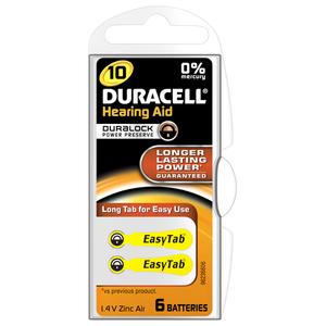 Baterii zinc-aer DURACELL DA 10 pentru aparat auditiv