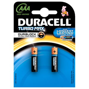 Baterii AAAK2 DURACELL Turbo Max Duralock, 2 bucati