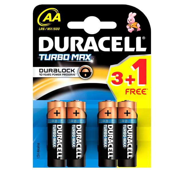 baterii duracell aa turbo max duralock 3 1 bucati