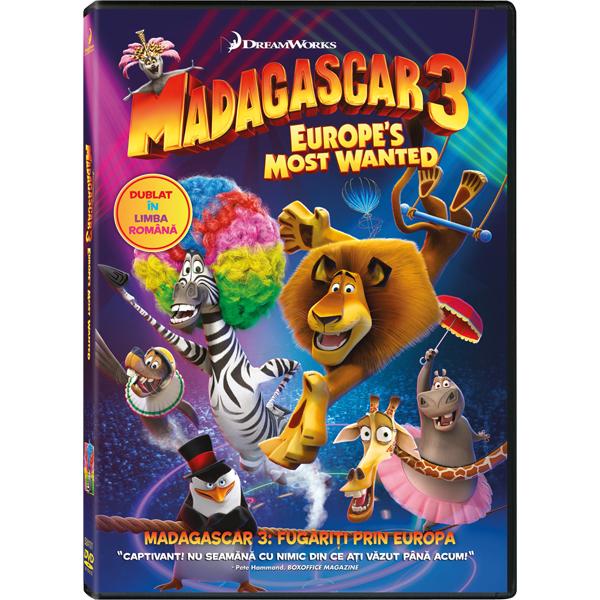 Madagascar 3 - Fugariti prin Europa DVD