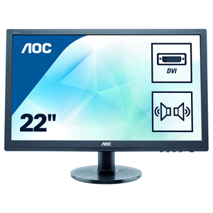 """Monitor LED TN AOC E2275SWJ, 21.5"""", Full HD, 60Hz, negru"""