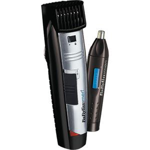 Aparat de tuns BABYLISS W-Tech Beard Trimmer + Nose Trimmer Style Edition E825PE, negru