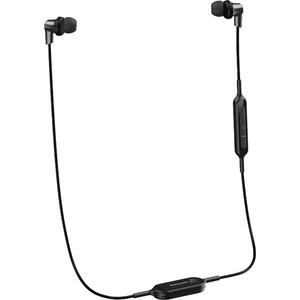 Casti PANASONIC RP-NJ300BE-K, microfon, in ear, wireless, negru
