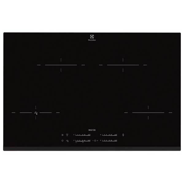 Plita incorporabila ELECTROLUX EHR8540FHK, inductie, 4 zone de gatit, 7400W, negru