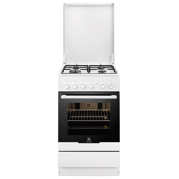 Aragaz ELECTROLUX EKG51151OW, 4 zone de gatit, gaz, grill, alb