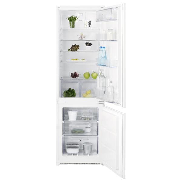 Combina frigorifica incorporabila ELECTROLUX ENN2812AOW, Static low frost, 268 l, H 177.2 cm, Clasa A++, alb