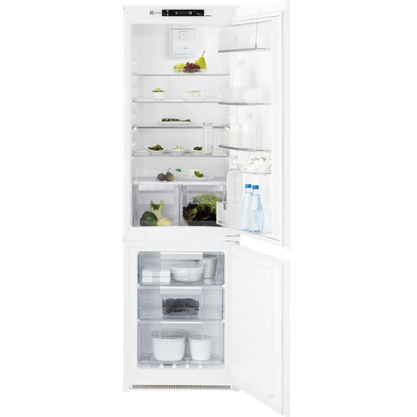 Combina frigorifica incorporabila ELECTROLUX ENN2853COW, Frost free, 253 l, H 177.2 cm, Clasa A+, alb