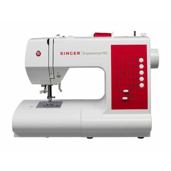 Masina de cusut SINGER Experience 160, 1500 imp/min, 30 programe baza, alb - rosu