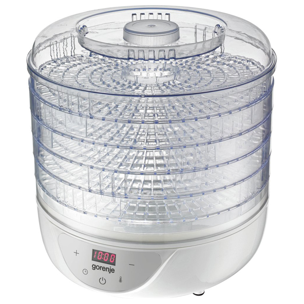 Deshidrator de fructe si legume GORENJE FDK24DW, 240W, 35-70°, 5 tavi uscare, alb