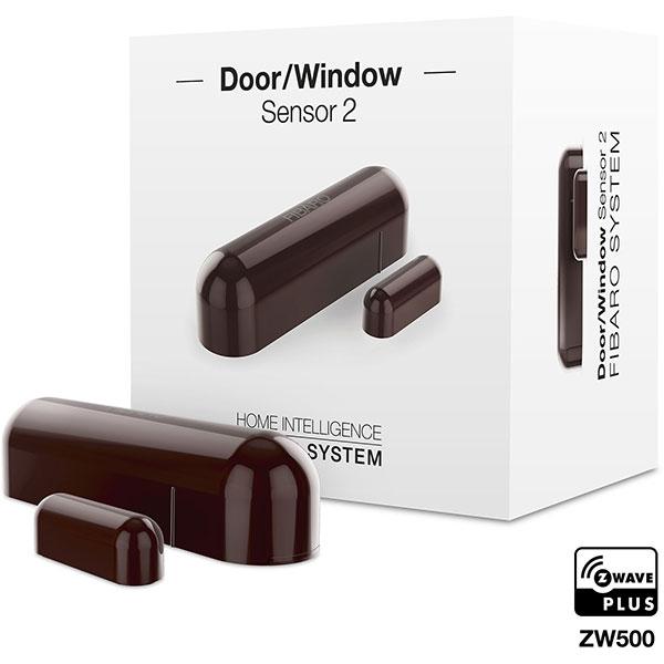 Senzor de usa / fereastra FIBARO FGDW-002-7, Z-Wave, maro