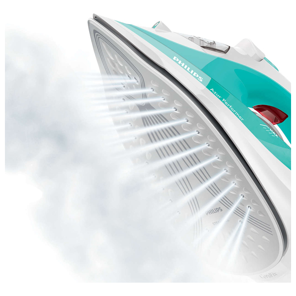 Fier de calcat PHILIPS Azur Performer GC3821/70, SteamGlide Plus, 160g, 2400W, alb-albastru