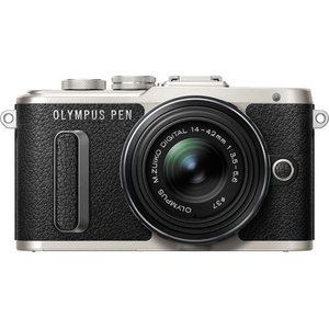 Aparat foto Mirrorless OLYMPUS E-PL8, 16.1 MP+ Obiectiv 14-42MM, Negru