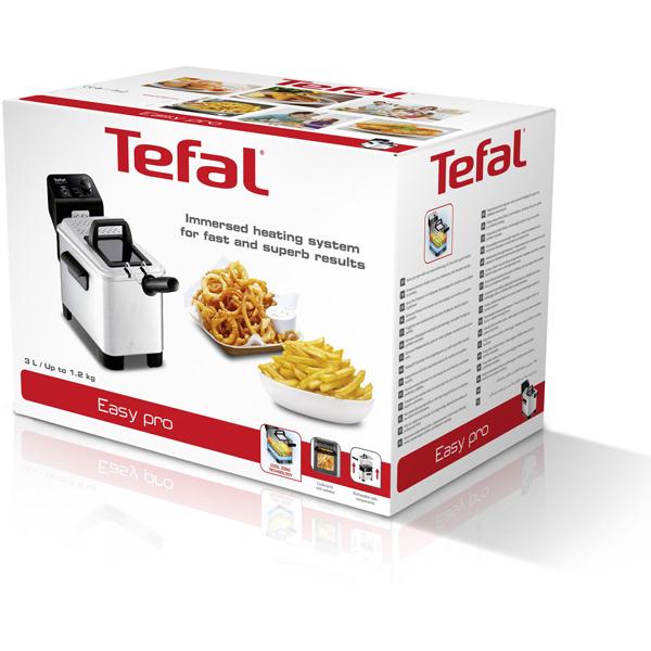 Friteuza semi profesionala TEFAL Easy Pro FR333070, 1.2kg, zona rece, termostat ajustabil, incalzire rapida