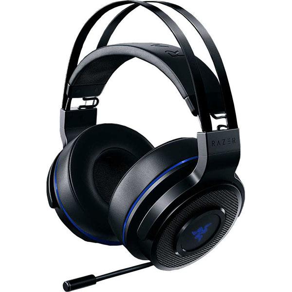 Casti Gaming Wireless RAZER Thresher Ultimate Wireless PS4, 7.1 surround, dongle 2.4Ghz, negru-albastru