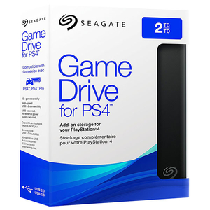Hard Disk Drive portabil SEAGATE Game for PS4 STGD2000400, 2TB, USB 3.0, negru