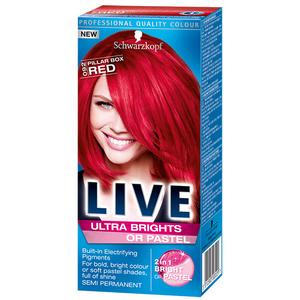 Vopsea de par SCHWARZKOPF Live XXL Ultra Brights, 92 Red, 80 ml