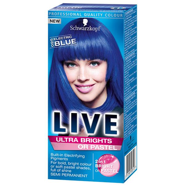 Vopsea de par SCHWARZKOPF Live XXL Ultra Brights, 095 Blue, 80ml