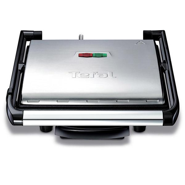 Gratar electric TEFAL Inicio Grill GC241D38, 2000W, argintiu-negru
