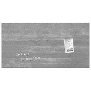 Tabla magnetica-sticla artverum® SIGEL GL148, 91 x 46 cm, gri