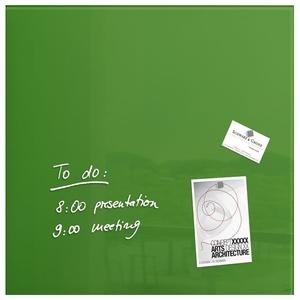 Tabla magnetica-sticla artverum® SIGEL GL253, 48 x 48 cm, verde