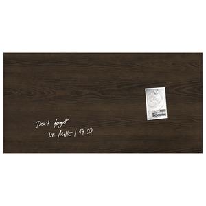 Tabla magnetica-sticla artverum® SIGEL GL259, 91 x 46 cm, maro inchis