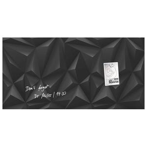 Tabla magnetica-sticla artverum® SIGEL GL261, 91 x 46 cm, negru