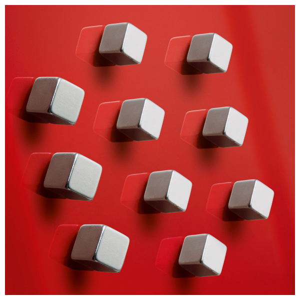"""Magneti SuperDym SIGEL C5 """"Strong"""" GL193, 10x10x10 mm, argintiu"""