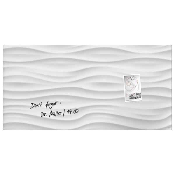 Tabla magnetica-sticla artverum® SIGEL GL260, 91 x 46 cm, alb