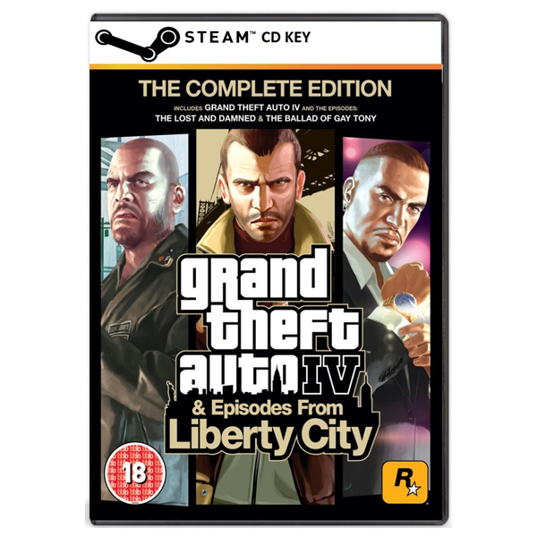 Grand Theft Auto IV (GTA 4) The Complete Edition - Steam Download Code PC