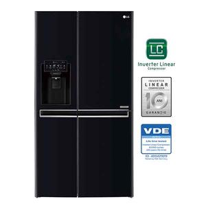 Side-by-Side LG Door in Door GSJ760WBXV, 601 l, 179 cm, A+, negru
