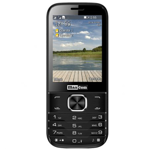 Telefon mobil MAXCOM Classic MM237, 2G, Dual SIM, Black