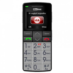Telefon mobil MAXCOM Comfort MM715, 2G, Dual SIM, Silver
