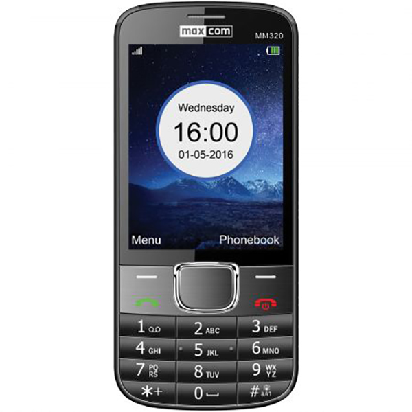 Telefon mobil MAXCOM Classic MM320, 2G, Dual SIM, Black