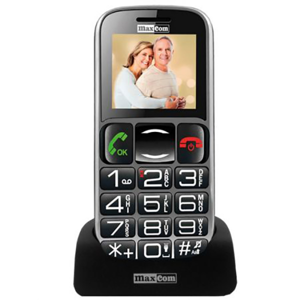 Telefon mobil MAXCOM Comfort MM462, 2G, Dual SIM, Black