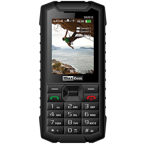 Telefon mobil MAXCOM Strong MM916, 3G, Dual SIM, Black